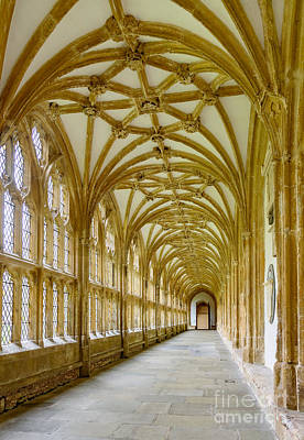 Cloisters, Wells Cathedral Poster