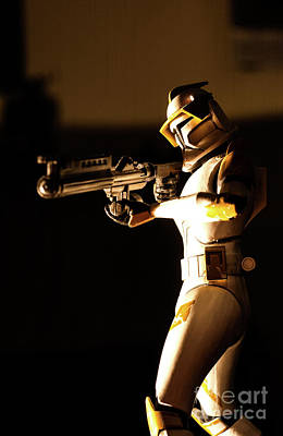 Poster featuring the photograph Clone Trooper 7 by Micah May