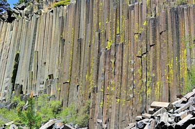 Close-up Devils Postpile Poster