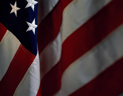 Close-up Of An American Flag, Usa Poster