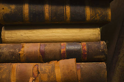 Close Up Of Antique Books In Leather Covers, Studio Shot Poster by Tetra Images