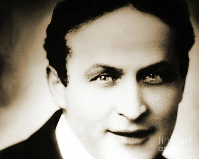 Close Up Of Harry Houdini Poster