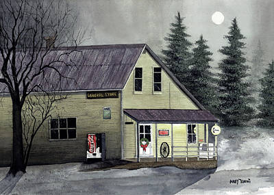 Closed For Christmas Poster by Mary Tuomi