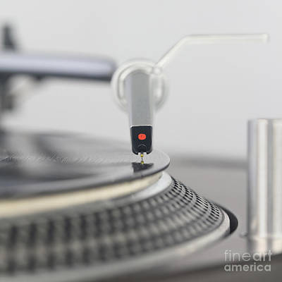 Closeup Of The Legendary Technics Sl 1200 Mk2 Turntable Poster