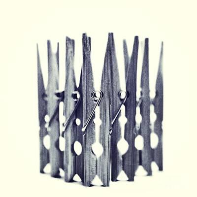 Clothespin Poster by Priska Wettstein