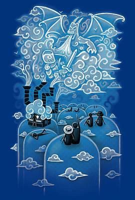 Cloud Concert Poster by Patrick Zedouard