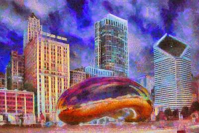 Cloud Gate Poster by Caito Junqueira