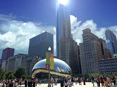 Cloud Gate In Chicago Poster