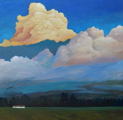 Poster featuring the painting Cloud On The Rise by Gary Coleman