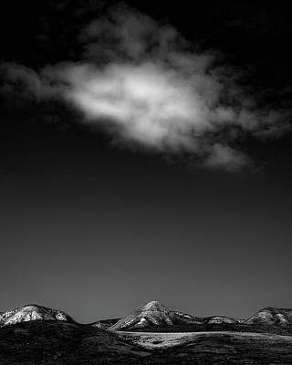 Cloud Over Carrizo  Bw Poster