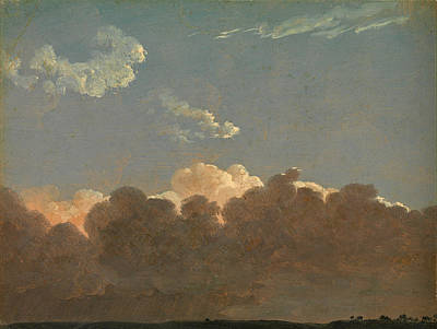 Poster featuring the painting Cloud Study. Distant Storm by Simon Denis