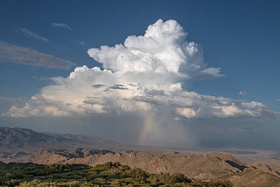 Cloud With Virga And Rainbow Poster by Joseph Smith
