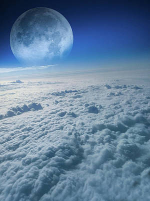 Clouds Aerial View Poster by Art Spectrum
