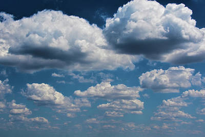 Clouds As Far As The Eye Can See Poster by Christine Dekkers