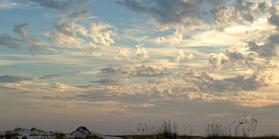 Clouds Gulf Islands National Seashore Florida Poster
