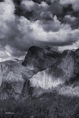 Clouds Over Bridal Veil Falls Poster by Bill Roberts