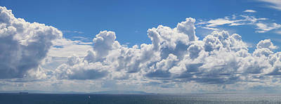 Clouds Over Catalina Island - Panorama Poster