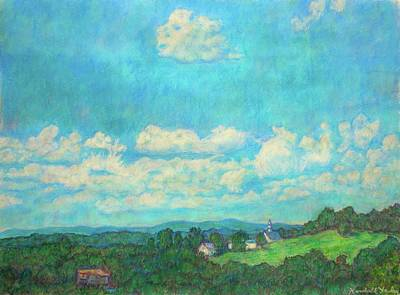 Clouds Over Fairlawn Poster by Kendall Kessler