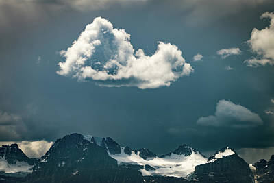 Clouds Over Glacier, Banff Np Poster