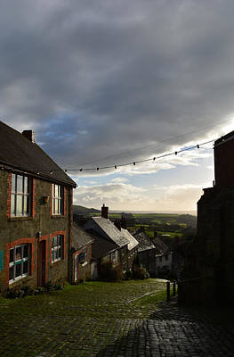 Clouds Over Gold Hill Poster
