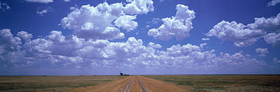 Clouds Over Prairie Amarillo Tx Poster