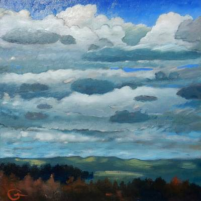 Poster featuring the painting Clouds Over South Bay by Gary Coleman