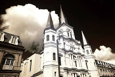 Clouds Over The Cathedral Infrared Poster by John Rizzuto