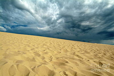 Clouds Over The Great Dune Of Pyla On The Bassin D'arcachon Poster by Sami Sarkis