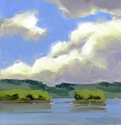 Clouds Over The Islands Poster by Mary Byrom
