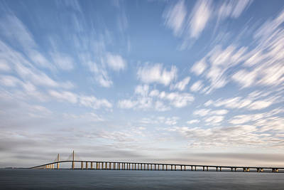 Clouds Over The Skyway Poster by Jon Glaser