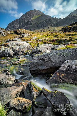 Clouds Over Tryfan Poster by Adrian Evans