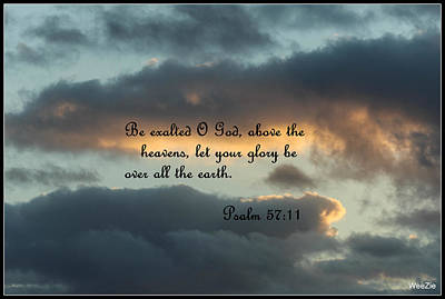 Clouds With Scripture Poster by Carolyn Ricks