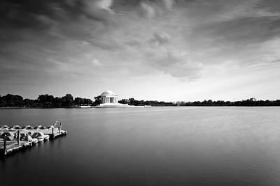cloudscape and the Tidal Basin Poster