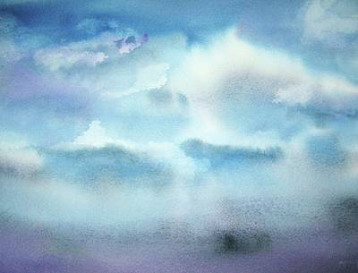 Poster featuring the painting Cloudscape by Ellen Levinson
