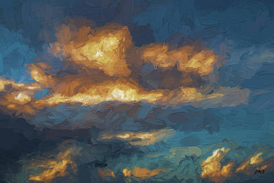 Cloudscape Xiii - Painterly Poster by David Gordon