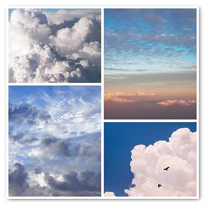 Poster featuring the photograph Cloudscapes Collage by Jenny Rainbow