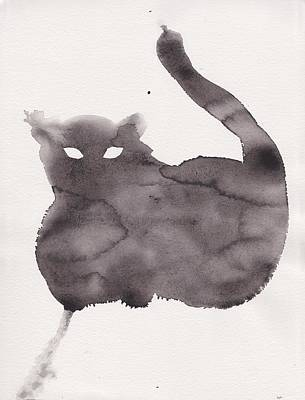Poster featuring the painting Cloudy Cat by Marc Philippe Joly