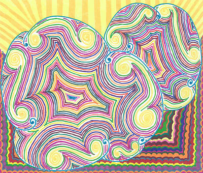 Poster featuring the drawing Cloudy Chaos by Jill Lenzmeier