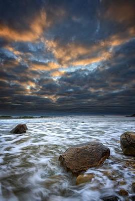 Cloudy Skies At Montauk Point Poster by Rick Berk
