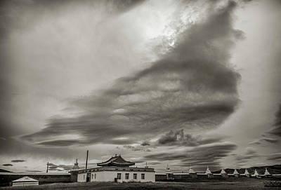 Poster featuring the photograph Cloudy Sky, Karakorum, 2016 by Hitendra SINKAR