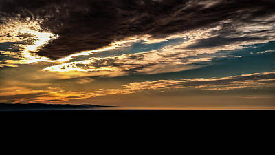 Poster featuring the photograph Cloudy Sunset by Onyonet  Photo Studios