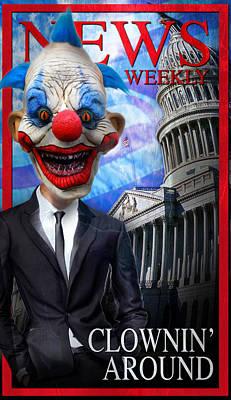 Clown In Washington Poster by Daniel Gilbreath