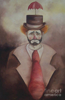 Poster featuring the painting Clown by Marlene Book