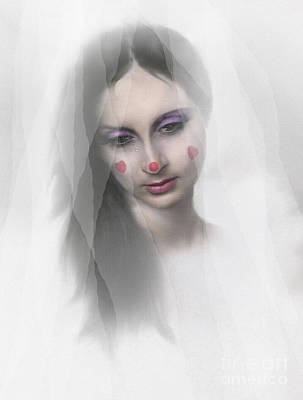Clown Tear Poster by Robert Foster
