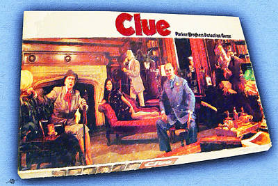 Clue Board Game Painting Poster by Tony Rubino