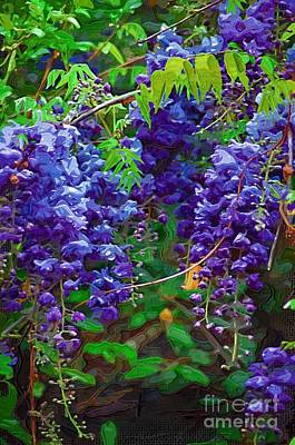 Poster featuring the photograph Clusters Of Wisteria by Donna Bentley