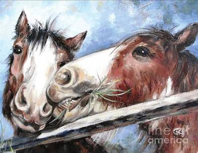 Clydesdale Pair Poster