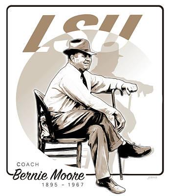 Coach Bernie Moore Poster by Greg Joens
