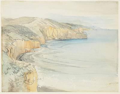 Coast Near Dunedin, 1865, By Nicholas Chevalier. Poster