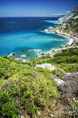 Coast Of Greece Poster by Jelena Jovanovic